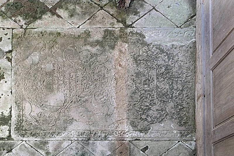 Dalle funéraire des Catin, seigneurs de Villotte