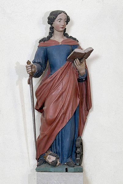 Statue : sainte Catherine