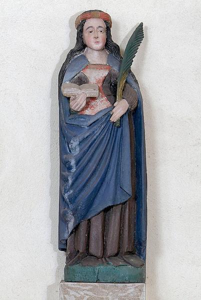 statue : sainte Reine (?)