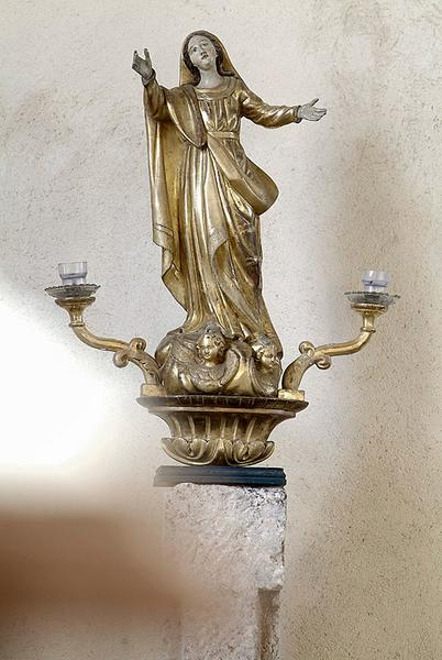bâton de procession : Assomption de la Vierge