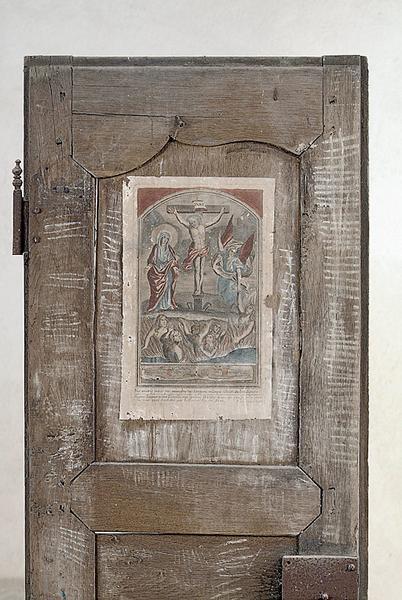 estampe : Intercession de la Vierge pour les âmes du Purgatoire