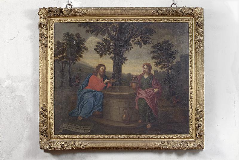 tableau encadré : Jésus et la Samaritaine