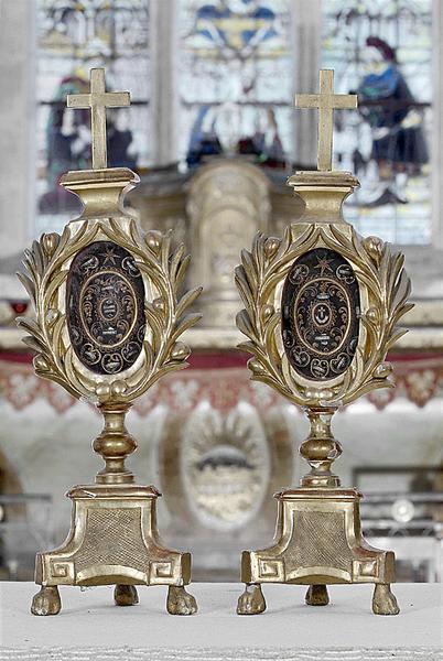 paire de reliquaires