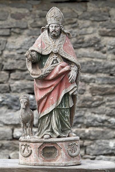 Statue-reliquaire : saint Hubert