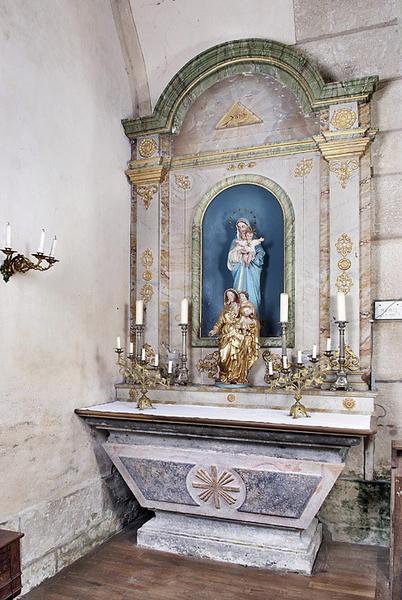 Deux autels-retables secondaires
