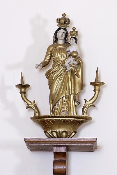 bâton de procession : Vierge à l'Enfant