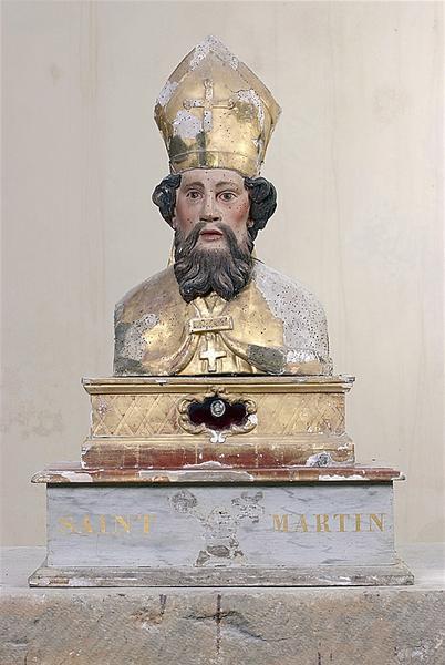 bustes-reliquaires en pendant : saint Martin et saint Abdon