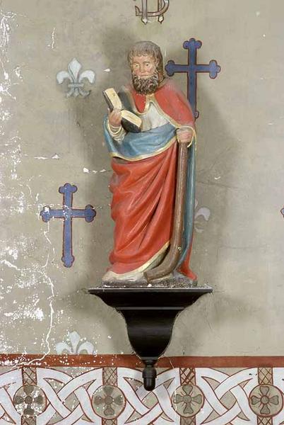 statues en pendant : saint Philippe et saint Jacques