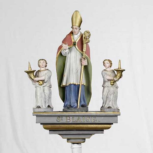 bâton de procession : saint Blaise