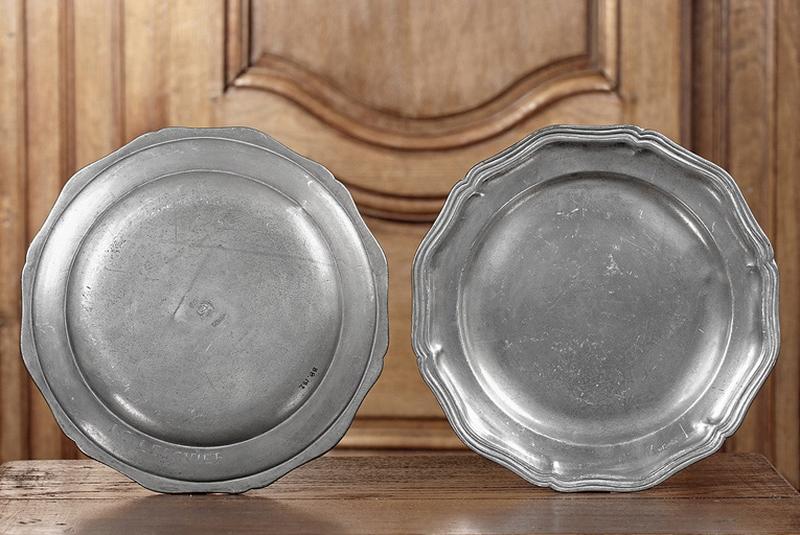 série de trente-six assiettes à contours (n° d'inventaire 176 à 211)