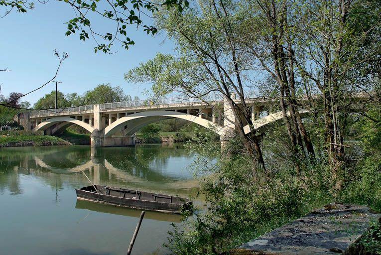 pont routier de Pont-Seille ; pont de Sermoyer (la Seille canalisée)