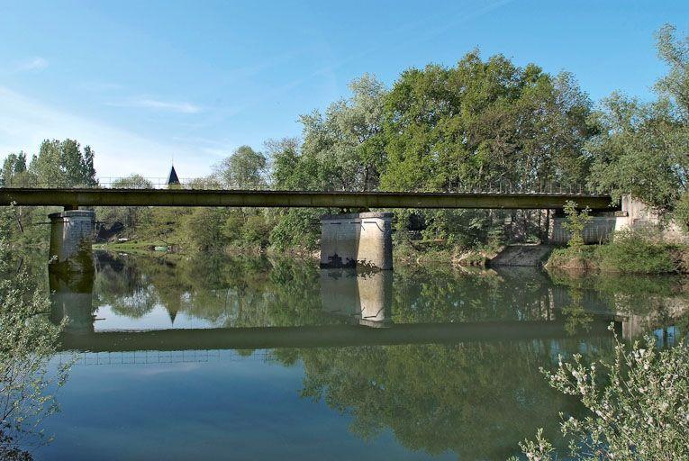 pont de chemin de fer de Ratenelle (la Seille canalisée)