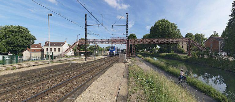 passerelle isolée (canal de Bourgogne)