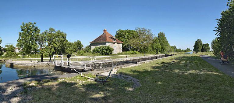 site de l'écluse 60 du versant Saône, dite de Préville (canal de Bourgogne)