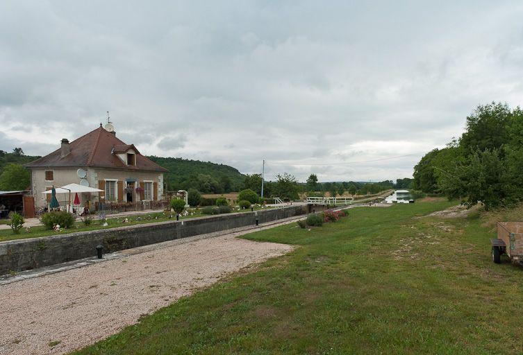 site de l'écluse 39 du versant Saône, dite de la Chassagne (canal de Bourgogne)