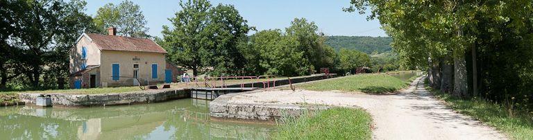 site de l'écluse 42 du versant Yonne, dite de Pouillenay 6ème (canal de Bourgogne)