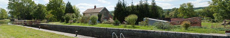 site de l'écluse 54 du versant Yonne, dite de Venarey 1ère (canal de Bourgogne)