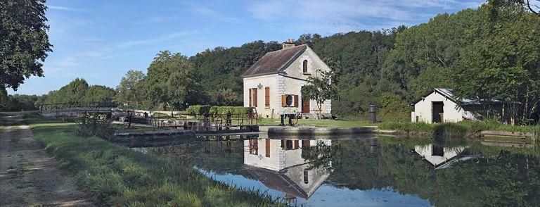 site de l'écluse 109 du versant Yonne, dite de la Maladrerie (canal de Bourgogne)