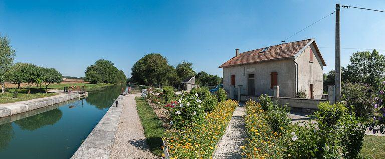site de l'écluse 78 du versant Yonne, dite de Fulvy (canal de Bourgogne)