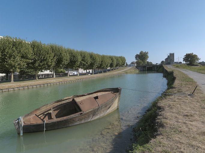 Site de l'écluse 114-115 du versant Yonne, dite de Laroche (canal de Bourgogne)