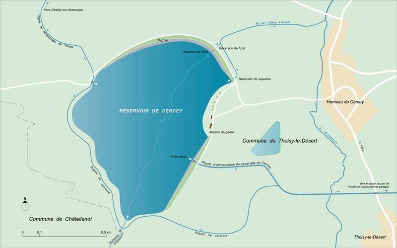 réservoir de Cercey (canal de Bourgogne)