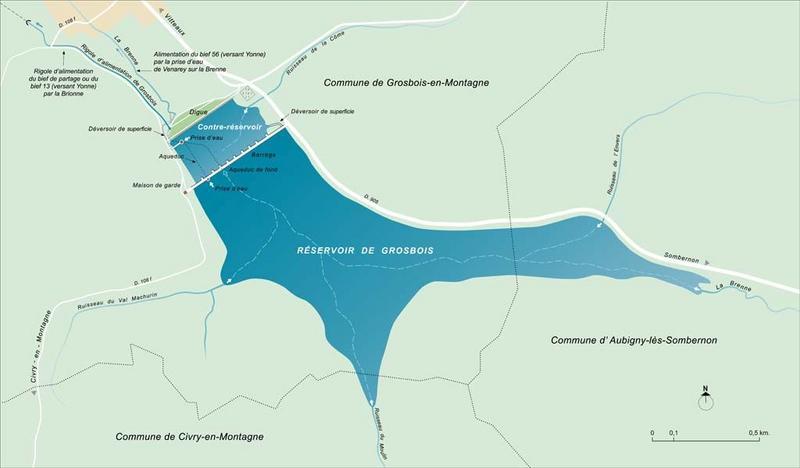 réservoir de Grosbois (canal de Bourgogne)