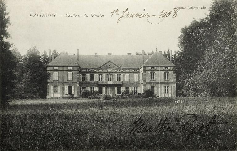 château du Montet (paysages du canal du Centre)