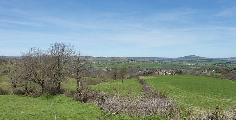 Village de Saint-Bérain-sur-Dheune (paysages du canal du Centre)