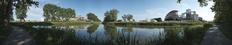 Bief ; chenal ; embranchement de Saint-Gobain (canal du Centre)