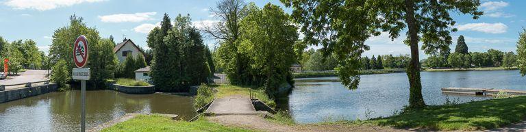 réservoir, étang de la Muette, port de Bois-Bretoux (canal du Centre)