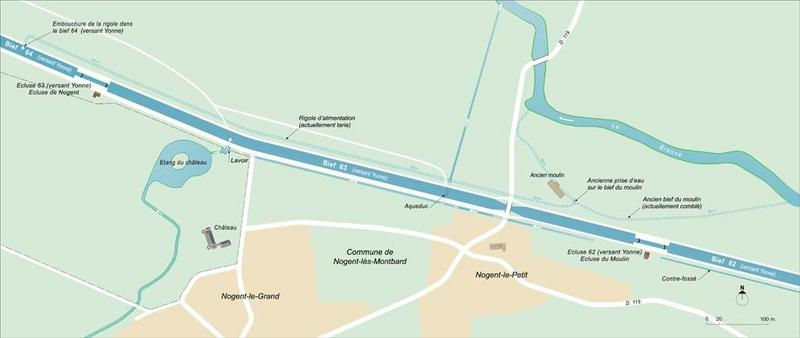 ouvrage lié à l'alimentation en eau lié au moulin de Nogent-lès-Montbard (canal de Bourgogne)