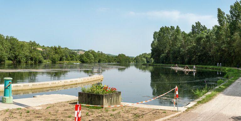 site de l'écluse 76, dite de la cour Barrée ou de Belle-Ombre (canal du Nivernais)