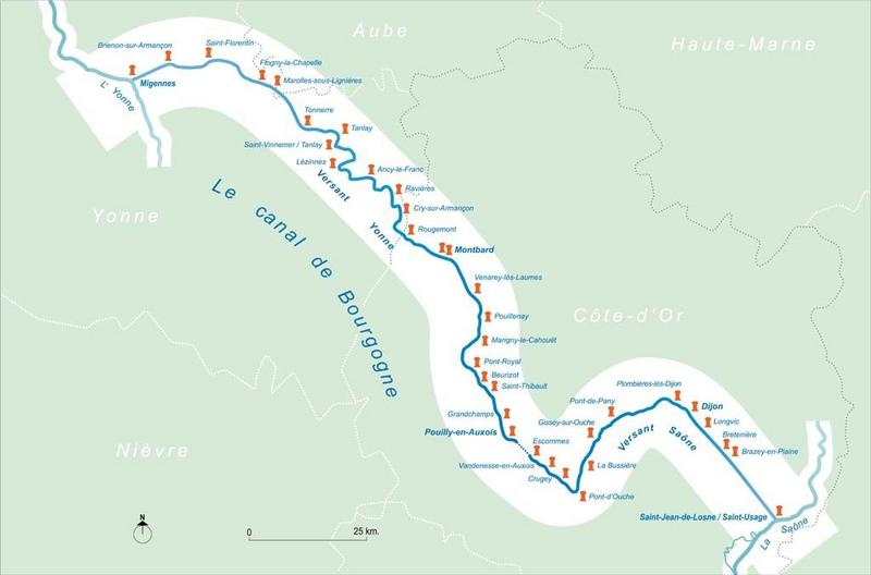 synthèse sur les ports et gares d'eau du canal de Bourgogne (canal de Bourgogne)