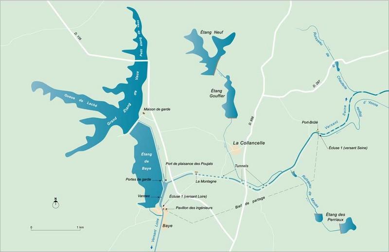 Réservoir de l'étang de Vaux (canal du Nivernais)