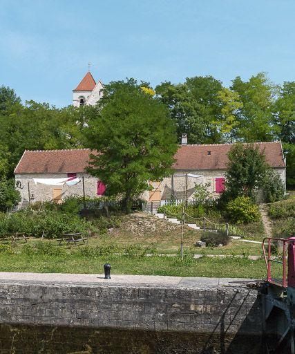 site de l'écluse 67 du versant Seine, dite des Dames (canal du Nivernais)