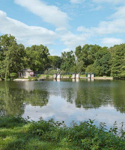 barrage à clapets de Preuilly (canal du Nivernais)