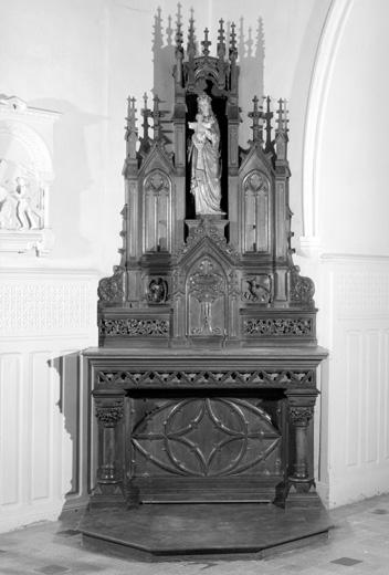 Autels de la Vierge et de sainte Apolline, tabernacles et gradins d'autel