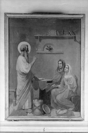Tableau : Saint Paul enseignant à deux saintes femmes