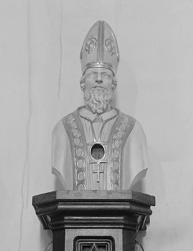Buste-reliquaire en hermès : saint Eloi ?