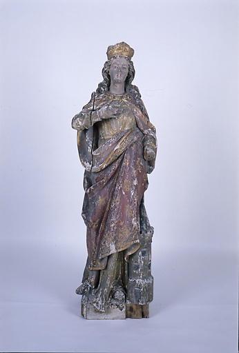 statue petite nature : sainte Barbe No 2
