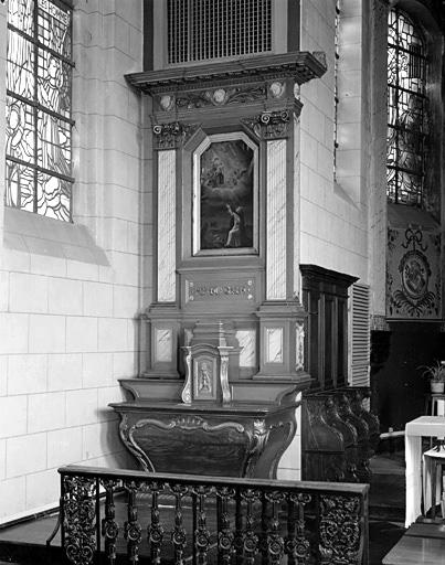 2 autels, 2 retables (autels secondaires de la Vierge du Rosaire et de saint Géry)