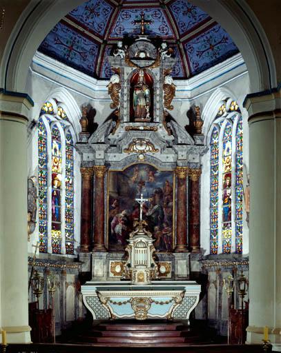 Ensemble du maître-autel (autel, retable, tabernacle, exposition)