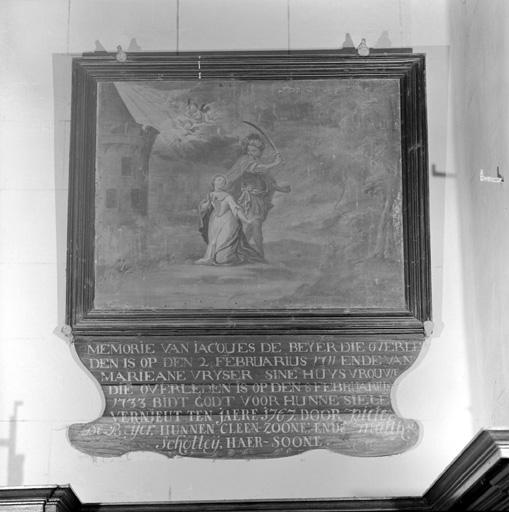 tableau : Le martyre de sainte Barbe