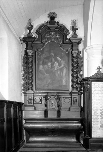 Retable (autel secondaire de la Vierge)