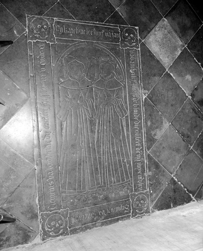 Dalle funéraire de Jeannette Van Bambeke et de Catherine De Blonde