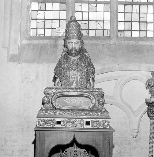 buste de procession : saint Sylvestre