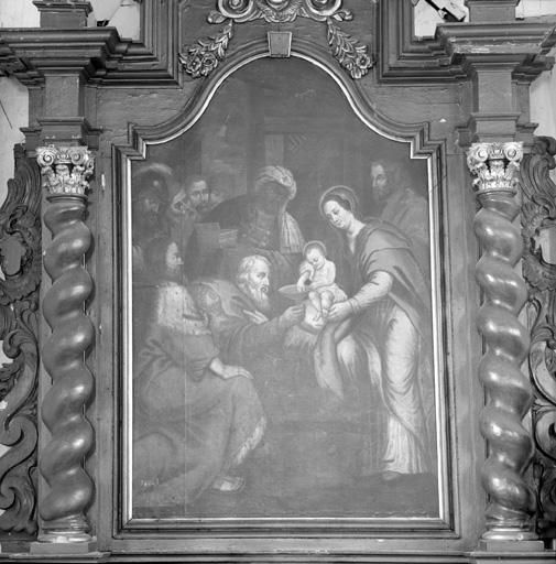 tableau d'autel (retable de la Vierge) : L'Adoration des Mages