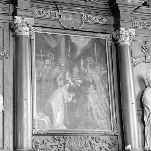 Tableau (tableau d'autel) : L'Ordination épiscopale de Saint Nicolas