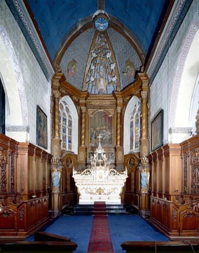 maître-autel, retable architecturé