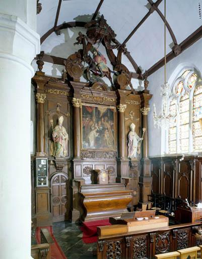 Retable (autel secondaire de Saint Nicolas)